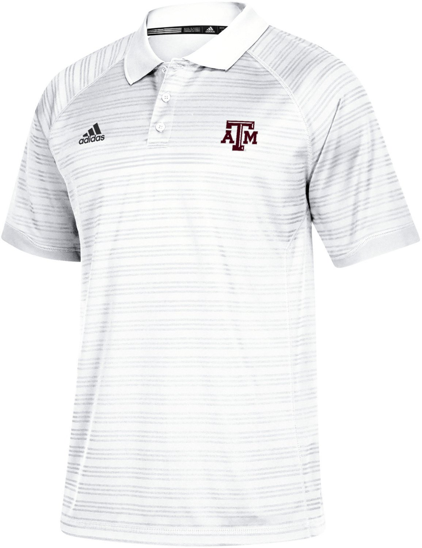 Adidas Mens Texas Am University Select Polo Shirt Academy