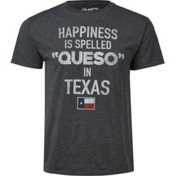 Men's Texas Happiness Spelled Queso T-shirt
