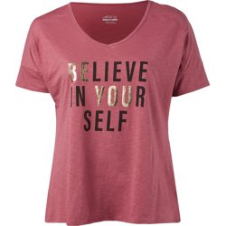 Women's Believe In Your Self Plus Size V-neck T-shirt
