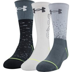 Kids' Phenom 5.0 Performance Crew Socks 3 Pack