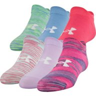 Under Armour Kids' Essential 2.0 Performance No Show Socks 6 Pack