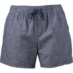 Women's Athletic Chambray Plus Size Shorts