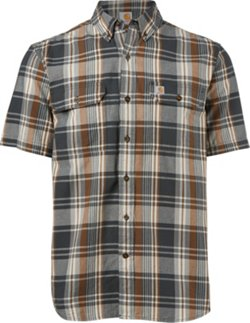 Men's Fort Plaid Short Sleeve Button Down Shirt