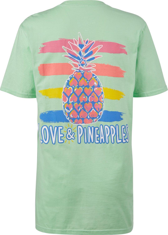 cf9bdf60 Love & Pineapples Women's Watercolor Pineapple T-shirt   Academy