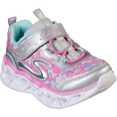 1751643a6618 SKECHERS Toddler Girls  S Lights Heart Lights Shoes