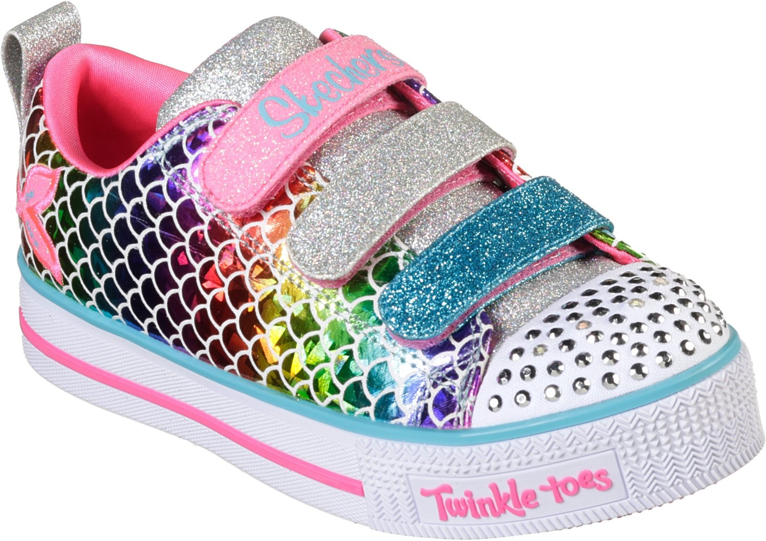 d42175775388f 5. 8. Display product reviews for SKECHERS Girls  Twinkle Toes Twinkle Lite  Sparkle Scales Shoes