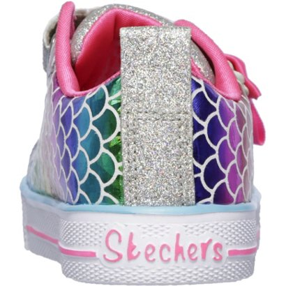 3c7bb35ccbdb SKECHERS Toddler Girls  Twinkle Toes Shuffle Lite Mermaid Parade Shoes
