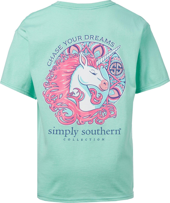 50015027 Simply Southern Girls' Unicorn T-shirt   Academy