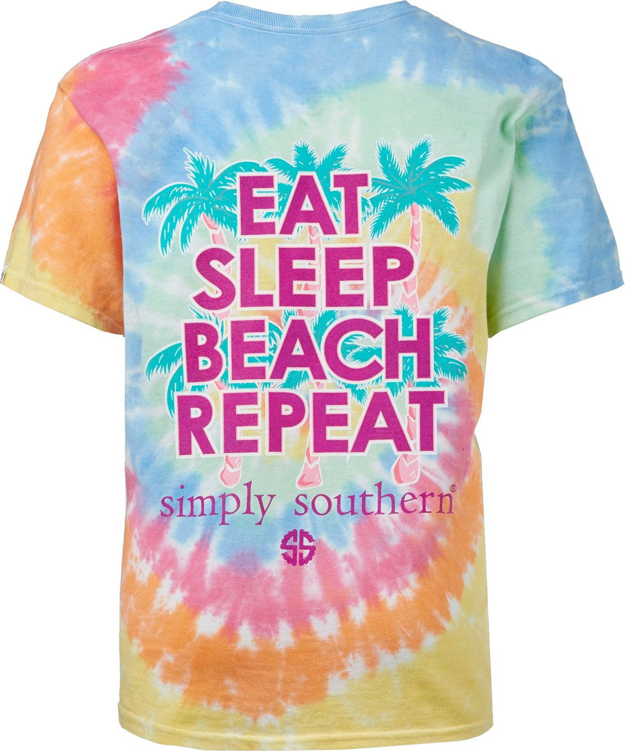a35a702d2d6d Display product reviews for Simply Southern Girls' Beach Repeat Tie Dye T- shirt