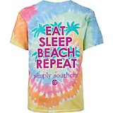 Simply Southern Girls' Beach Repeat Tie Dye T-shirt