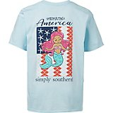 Simply Southern Girls' America Mermaid T-shirt