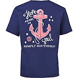 Simply Southern Girls' Anchor T-shirt