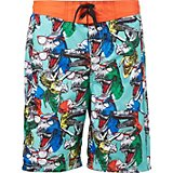SKECHERS Boys' Shark Print Swim Trunks
