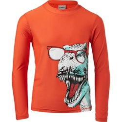 Boys' Dino Long Sleeve Rash Guard Top