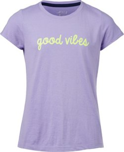 Girls' High Fives and Good Vibes Short Sleeve T-shirt