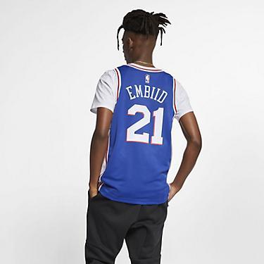 a65e311fe1fb0 Nike Men's Philadelphia 76ers Joel Embiid 21 Icon Edition Swingman Jersey