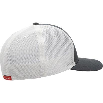 3d43ffc2db315 Huk Men s Red Tail Burst Stretch Trucker Hat