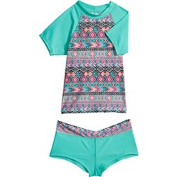 Girls' Boho Lovin 2-Piece Rash Guard Set
