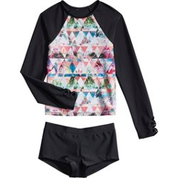 Girls' Tropical Matrix 2-Piece Rash Guard