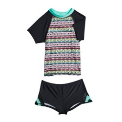 Girls' Trippin Vibes 2-Piece Rash Guard