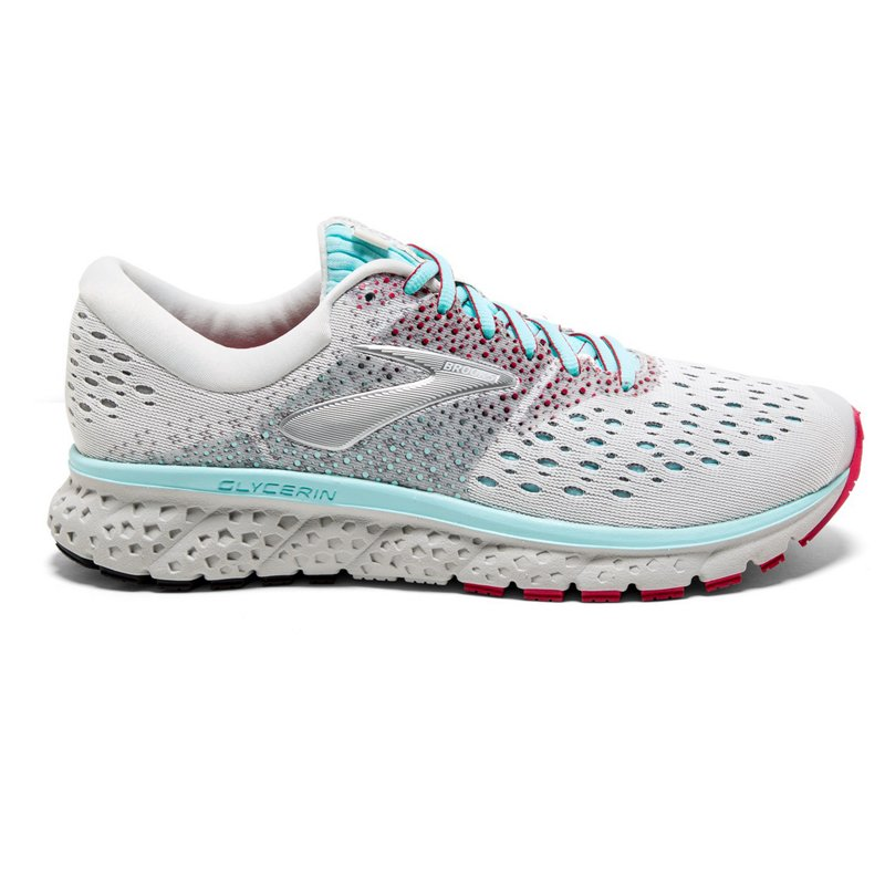 377bca7789e8a Brooks Women s Glycerin 16 Running Shoes (White Turquoise