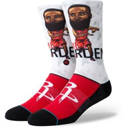 Kids' Houston Rockets Harden Big Head Crew Socks