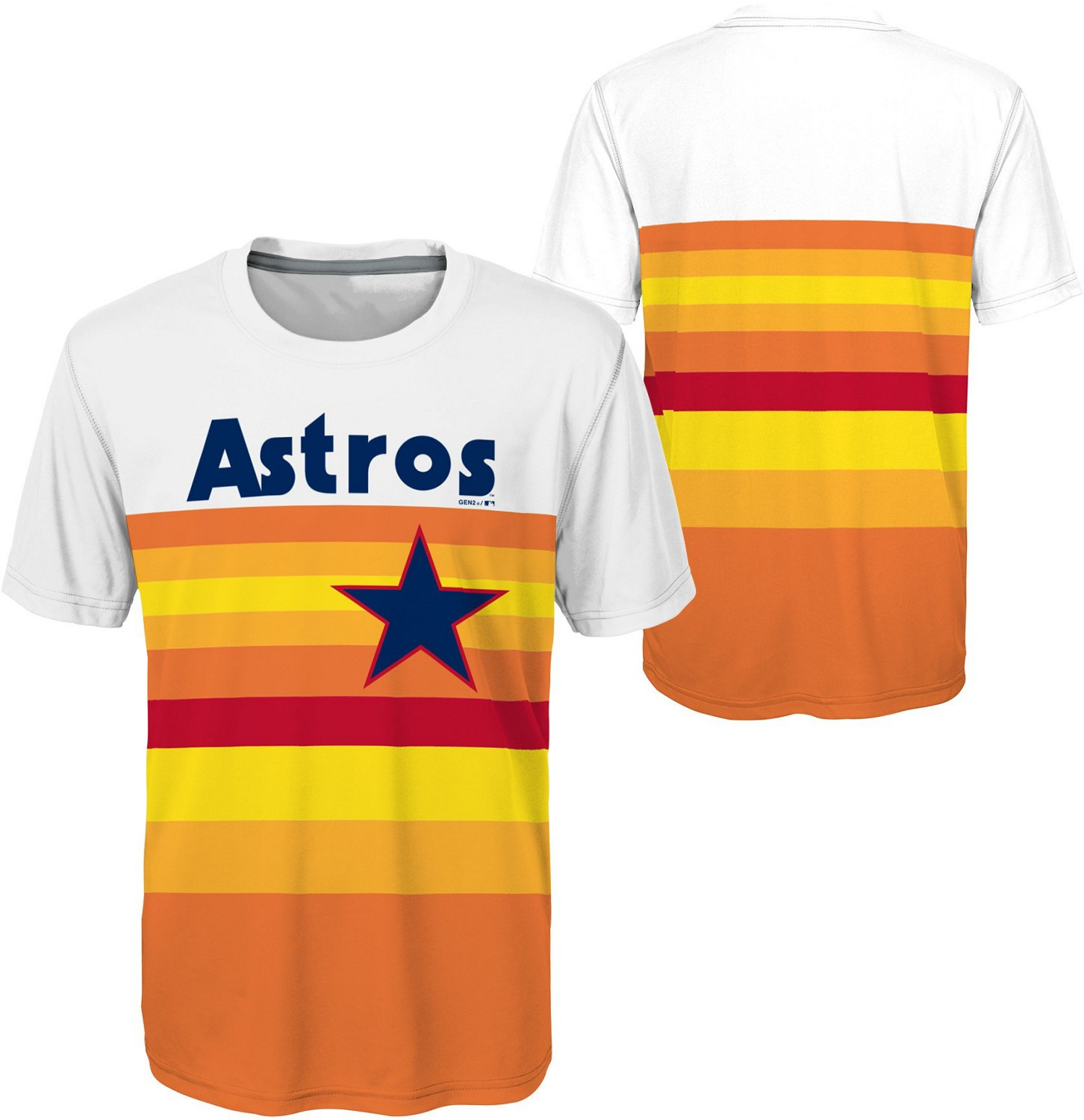 new product e3b3f 06cf7 Majestic Boys' Houston Astros Cooperstown Sublimated Jersey T-shirt