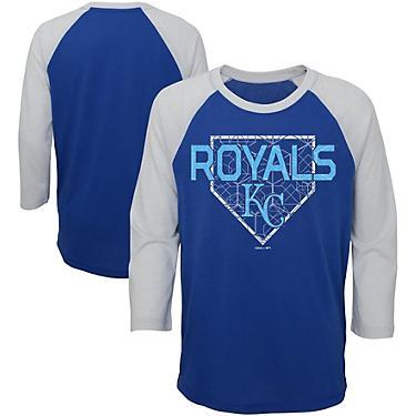 best service d1745 1863b Majestic Boys' 4-7 Kansas City Royals Score 3/4 Sleeve Raglan T-shirt