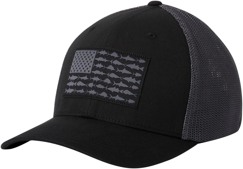 8d3ef6386f0 Columbia Sportswear Men s PFG Mesh Fish Flag Ball Cap