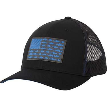 372e13ebfcd Men's PFG Mesh Snap Back Fish Flag Cap