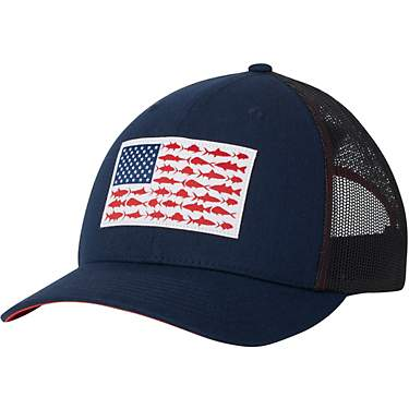 Columbia Sportswear Men's PFG Mesh Snap Back Fish Flag Cap