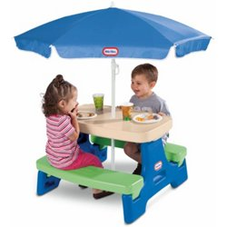 Easy Store Jr. Play Table with Umbrella