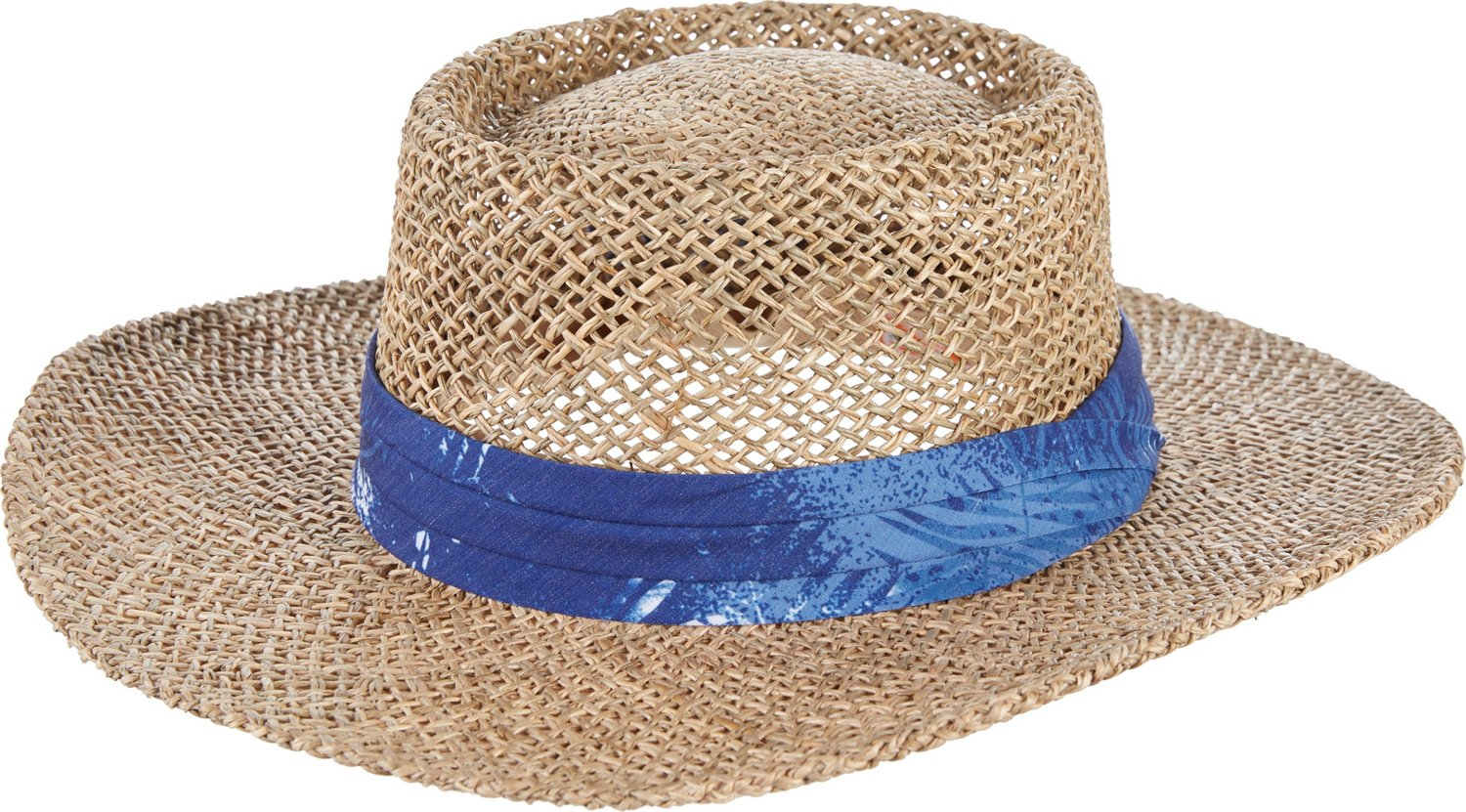 9b48da68baf15 Display product reviews for O Rageous Men s Seagrass Gambler Hat with Palm  Print Band