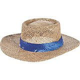 Men s Seagrass Gambler Hat with Palm Print Band d1a24f06301