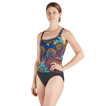 8a82b971f5b09 Jantzen Women's Bohemian Nights Square Neck One-Piece Swimsuit | Academy