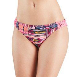 Juniors' Tulum Ikat Hipster Swim Bottoms