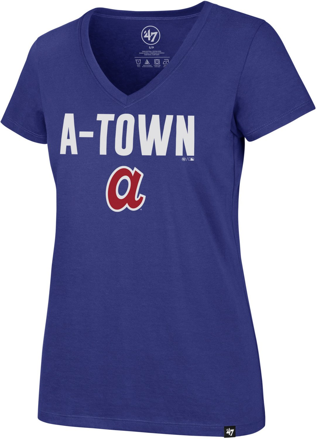 newest 5e086 a4793 '47 Atlanta Braves Women's Regional Ultra Rival T-shirt