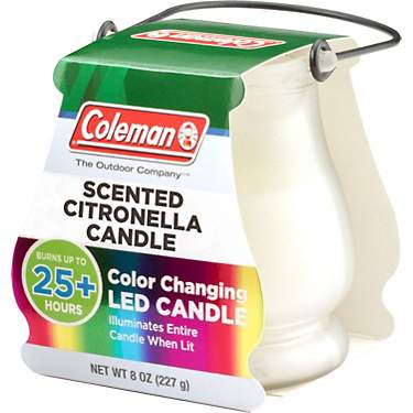 Coleman Outdoor Scented Citronella Color-Changing LED Candle