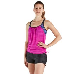 Women's Loom Ruched 2For Swim Sport Tankini Top