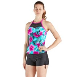 Women's Verdant High Neck Swim Sport Tankini Top