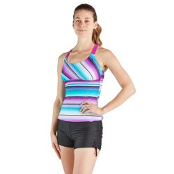 Women's Suspend Poncho Tankini Top