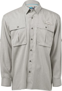 Men's Aransas Pass Heather Long Sleeve Fishing Shirt
