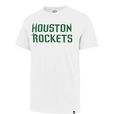 ad9f4f4d2ac 47 Houston Rockets St. Patrick s Day Wordmark Super Rival T-shirt ...
