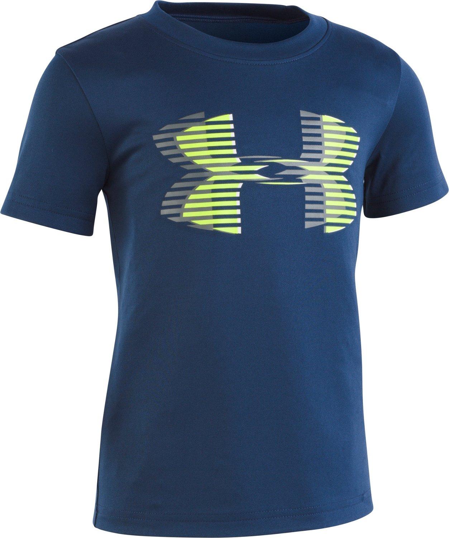 b454917f34f1 Under Armour Toddler Boys  Linear Big Logo Short Sleeve T-shirt ...