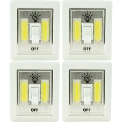 LitezAll COB LED Mini Wireless Light Switches 4-Pack