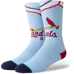 Men's St. Louis Cardinals Road 1976 Crew Socks