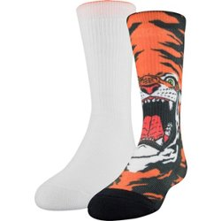 Kids' Tiger Crew Socks 2 Pack