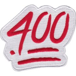 .400 Batting Average Bag Patch