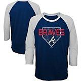 c3c39a4a4 Boys  4-7 Atlanta Braves Score 3 4 Sleeve Raglan T-shirt. Quick View.  Majestic