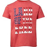 Americana Boys' Land of the Free Graphic T-shirt